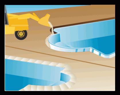 Proceso de instalación de piscina prefabricada de poliéster - paso 4